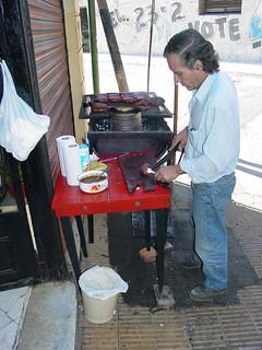 Cooking Choripan - La Boca - Buenos Aires - Argentina