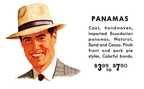 Adam Hats ad 1951