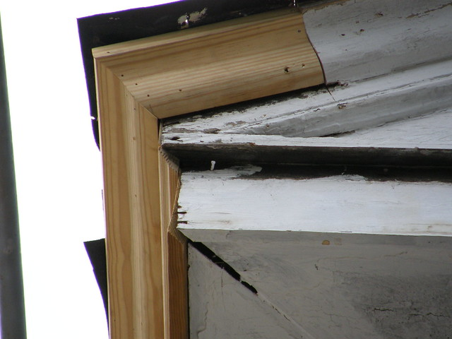 Cornice repair at gable roof flickr photo sharing for Box gable roof