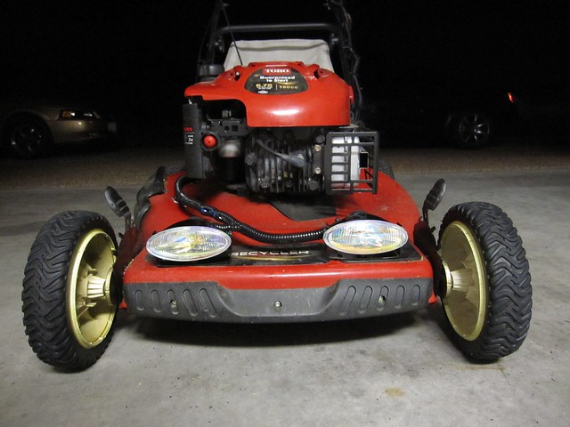 Headlights On A Push Mower Why Why Not An Album On Flickr