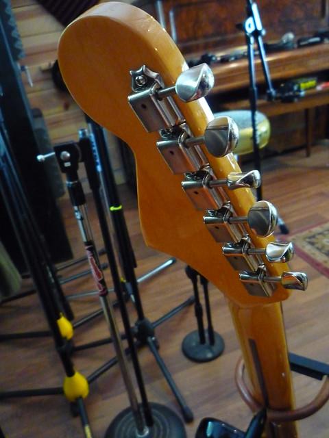 Photo:Fender Jaguar HH Back of Headstock By Roadside Guitars