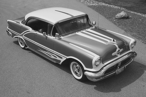 1956 Oldsmobile Holiday 88 4 door hardtop panel painted watson style