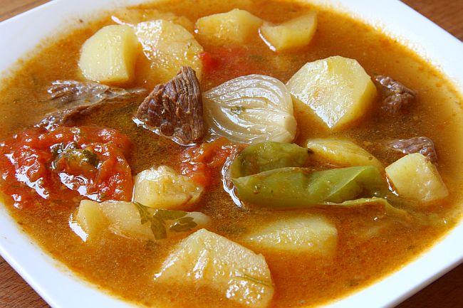 Patatas guisadas con carne mercado calabaj o - Como hacer garbanzos guisados ...