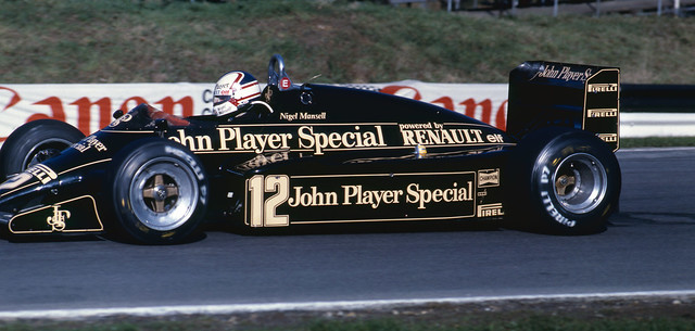 Nigel Mansell Qualifying the JPS Lotus in the European GP at Brands Hatch 1983 2