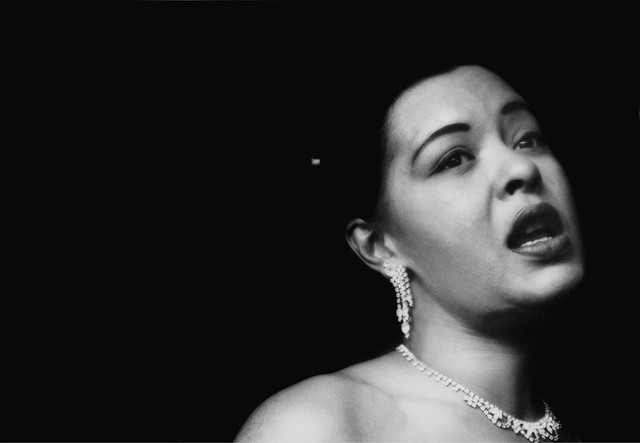 Billie Holiday singing her plaintive songs at the Tiffany Club, Los Angeles, 1951, by Bob Willoughby