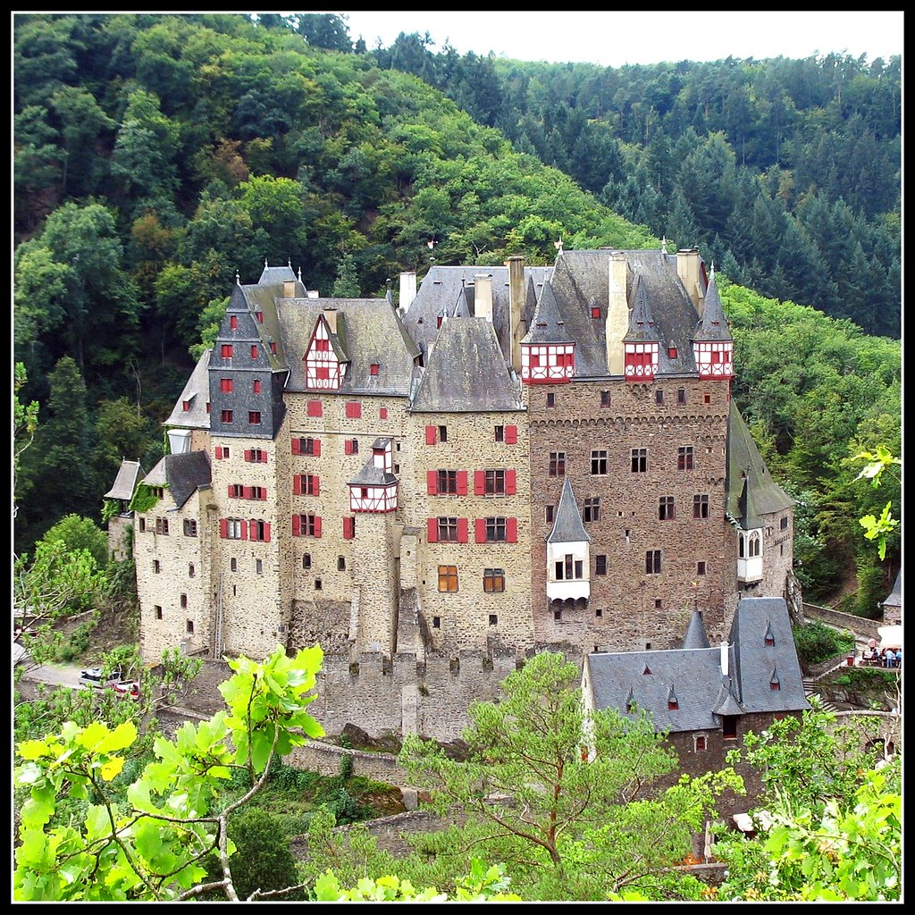 On Black Fairytale Castle Burg Eltz Germany By