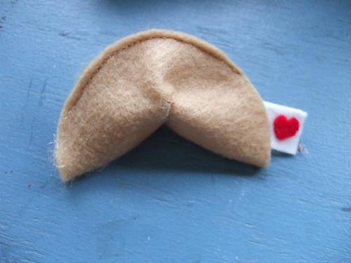 felt fortune cookie