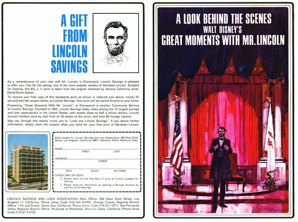 "Disneyland ""Mr. Lincoln"" Souvenir Program 1/3"