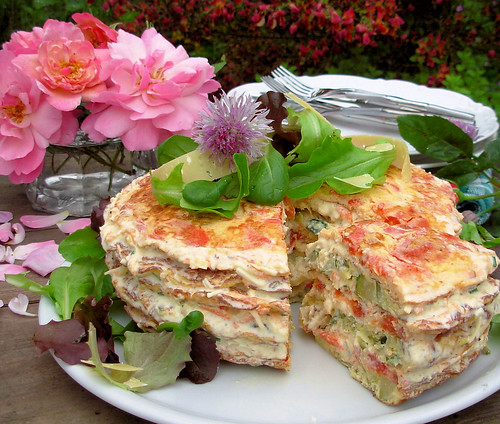 A French Country Affair: Herb and Vegetable Omelette Gateau