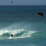 Kitesurfing in Hookipa Beach, Maui