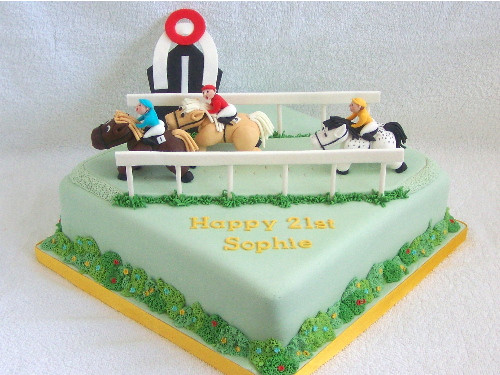 Cake Decorations Horse Racing : Horse Racing Cake Decorations