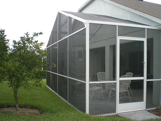 Gable roof screen enclosure flickr photo sharing for Box gable roof