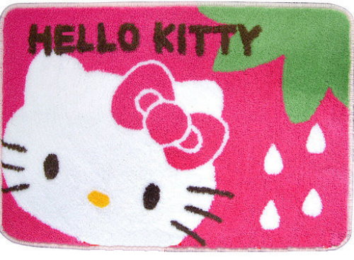 SANRIO HELLO KITTY STRAWBERRY BATH AREA RUG MAT CARPET @ SGD22.90