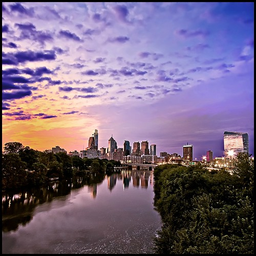 city morning trees philadelphia sunrise river downtown centercity philly 1022mm schuylkill platinumheartaward vertorama