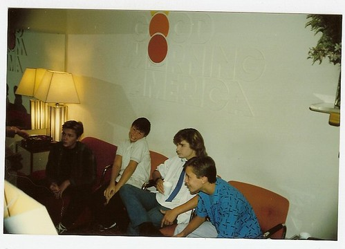 Waiting to promote Stand By Me on Good Morning America in 1986