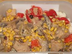 Juniper berry and corn chicken