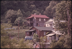 Houses in Besoco, West Virginia, near Beckley. Their Condition Mirrors the Decline of the Once Busy Mining Town 06/1974