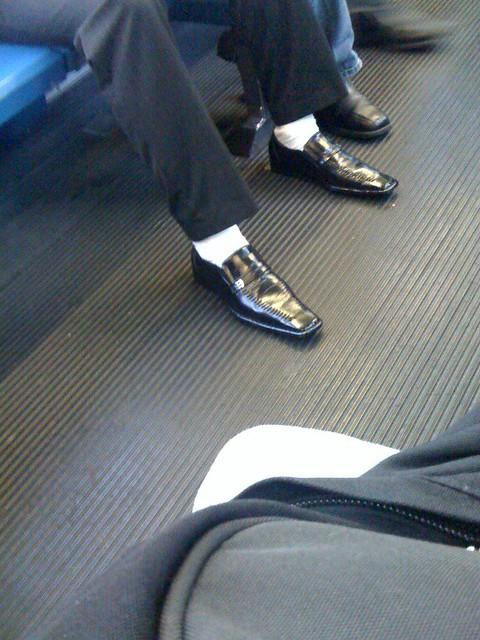 fashion fail white socks and dress shoes flickr photo