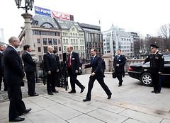 Russlands president på besøk i Norge