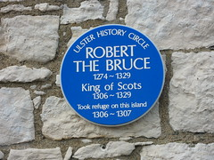 Photo of Robert the Bruce blue plaque