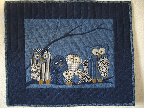 Hand Quilted Wall Quilt - Cute Owls - SOLD!