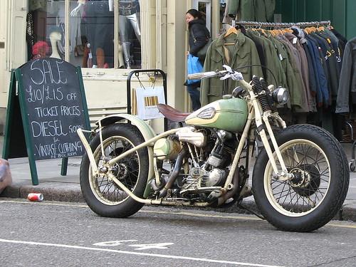 Vintage motorcycle, Portobello Market
