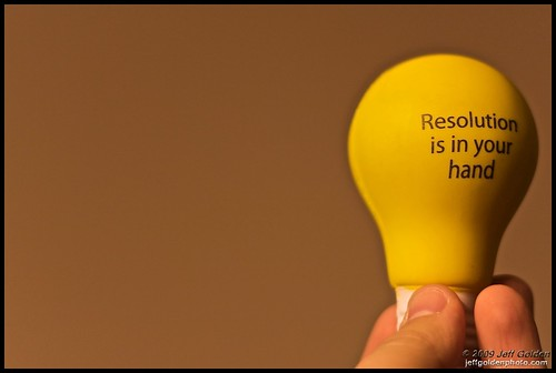 Resolution is in your hand