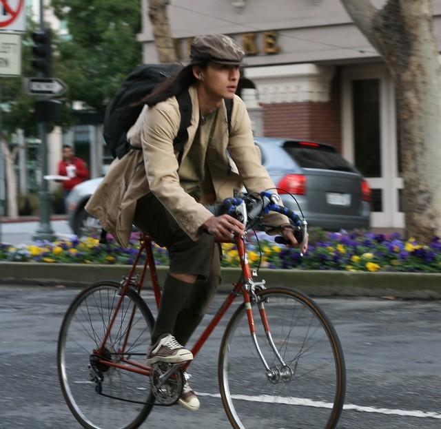 University Avenue cyclists