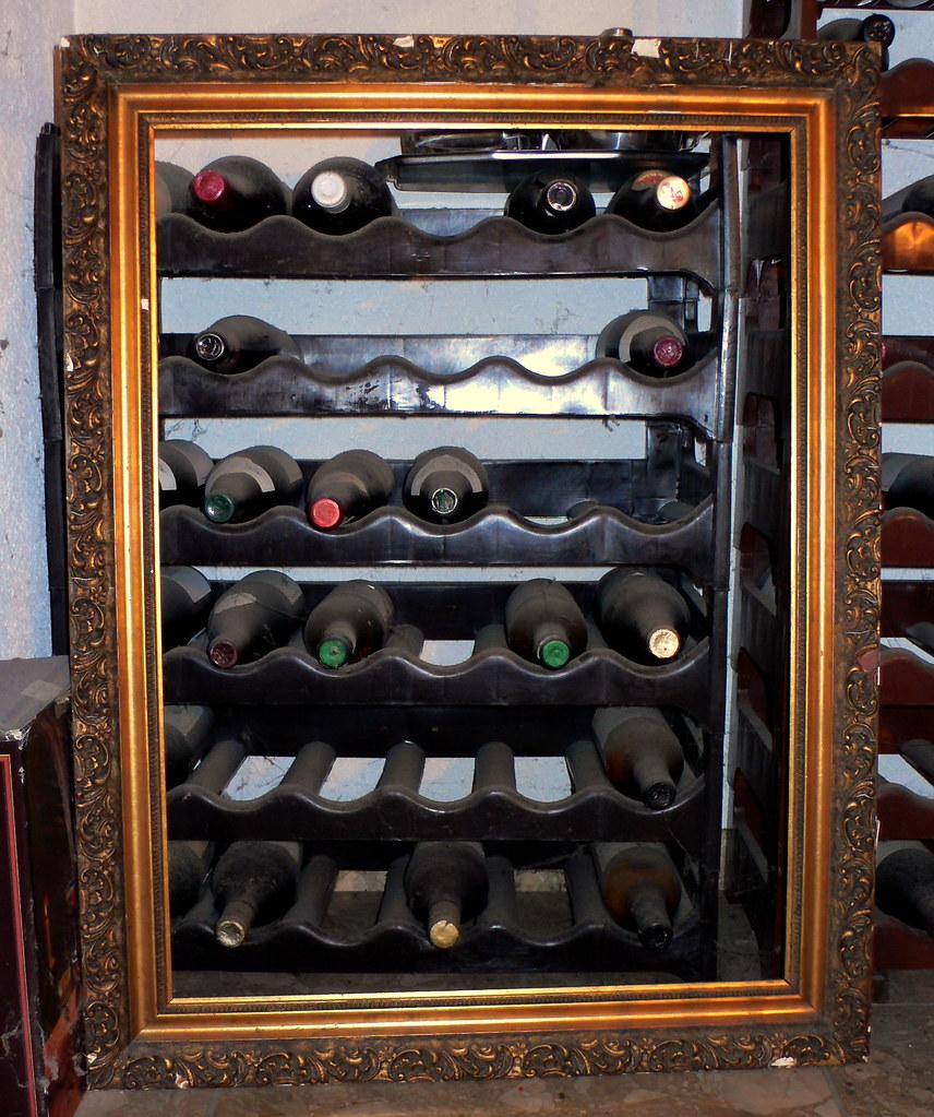 Framed Bottle Rack