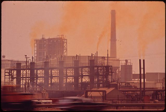 Olin-Mathieson Plant Emits Sulphur Fumes 06/1972 Documerica by Marc St. Gil (1924-1992)..