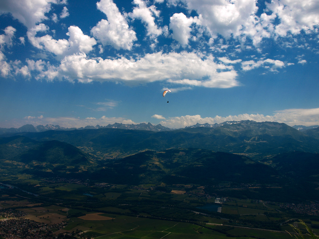 Lonely paraglider