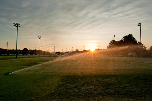 park green sunrise football pentax wide wideangle flare limited 15mm sprinklers practicefield k10d pentaxk10d da15 da15limited da15mm smcpda15mmf4 smcpentaxda15mmf4edallimited da15mmlimited lostmountainpark