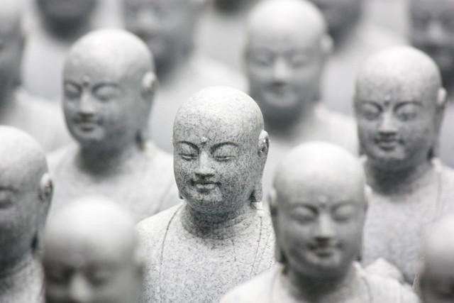 Buddha statues at Hase-dera