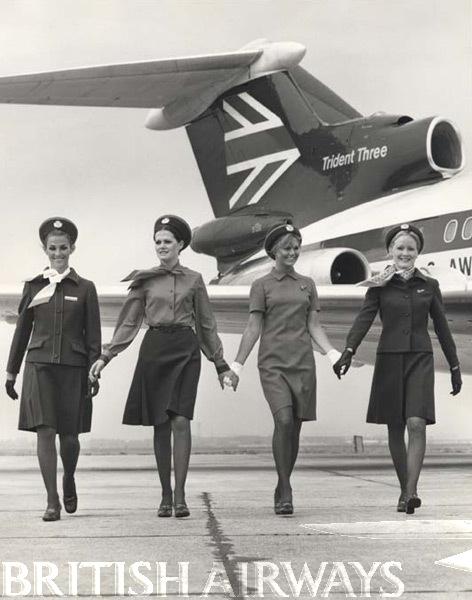 1970s - BEA female uniforms