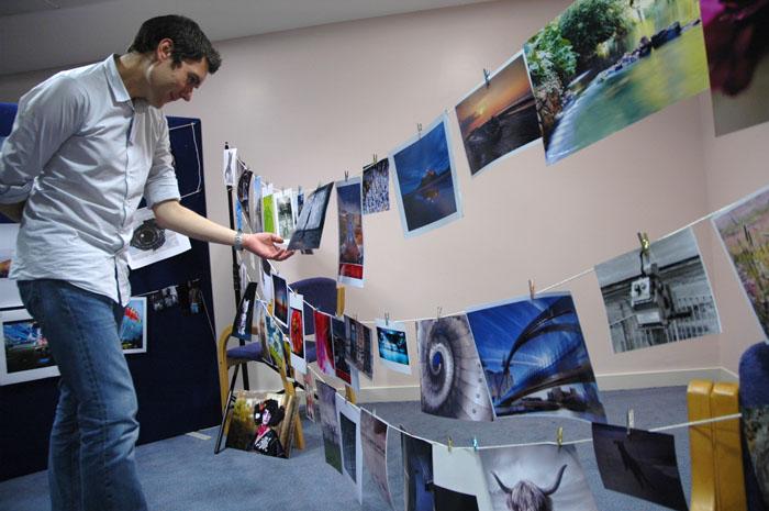 Peer Lawther judging Printswap