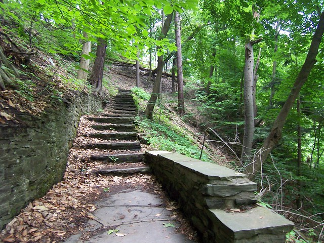 stairs to the gorge