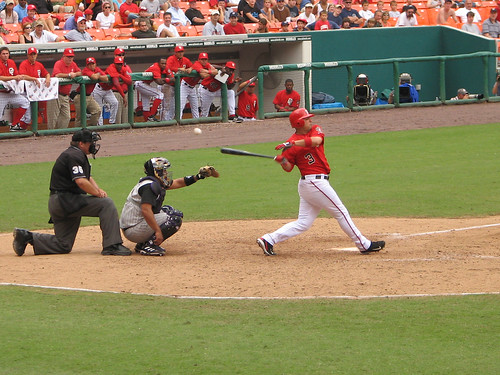 Foul! Washington Nationals vs. Arizona Diamondbacks, 09/03/2006, RFK Stadium, Washington, DC