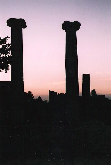 basilica al tramonto