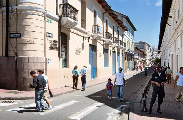 Calle Benalcázar And Sucre, Quito, Ecuador