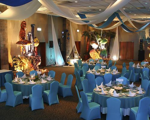 Wedding dinner setup under the sea theme flickr photo for Wedding dinner decoration ideas