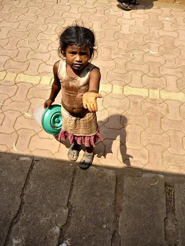 Beggar girl Flickr runran