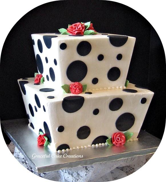 Cake Designs With Polka Dots : Polka Dot Wedding cake Flickr - Photo Sharing!