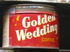 Golden Wedding Coffee Tin