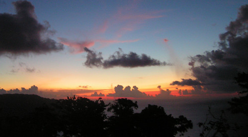 sunset island hill flagstaff caribbean tobago
