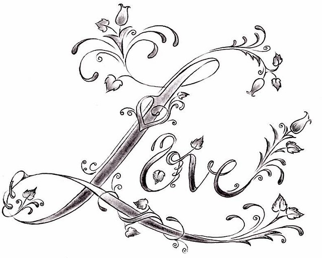 Love Design Drawings Love Tattoo Design by Denise