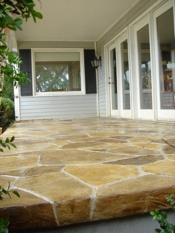 Stamped And Stained Concrete Patio In Goode VA Flickr