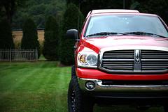 automobile(1.0), automotive exterior(1.0), sport utility vehicle(1.0), dodge ram srt-10(1.0), wheel(1.0), vehicle(1.0), ram(1.0), grille(1.0), bumper(1.0), land vehicle(1.0), motor vehicle(1.0),
