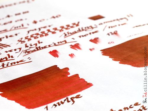 J Herbin 1670 Anniversary ink sample