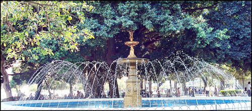 Fountain in Plaza de la Independencia, Tucuman, Argentina by comedyhunter