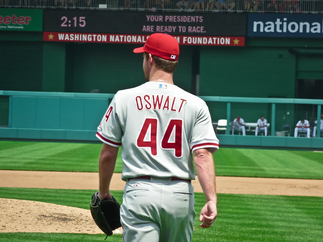 Roy Oswalt headed out to the mound